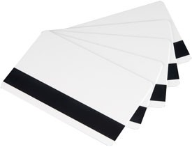 PVC ID Cards - 2750 Oe High Coercivity (HiCo) Mag Stripe - White Bundle of 100 Cards