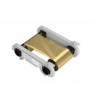 Evolis Zenius & Primacy Printer Ribbon, METALLIC GOLD MONOCHROME RIBBON 1,000 PRINTS / ROLL